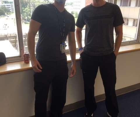 Doctors Joseph Uricchio and Parker Merritt