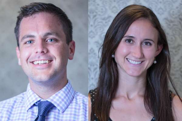 Headshots of Doctors Dayton and Magnelli, new faculty