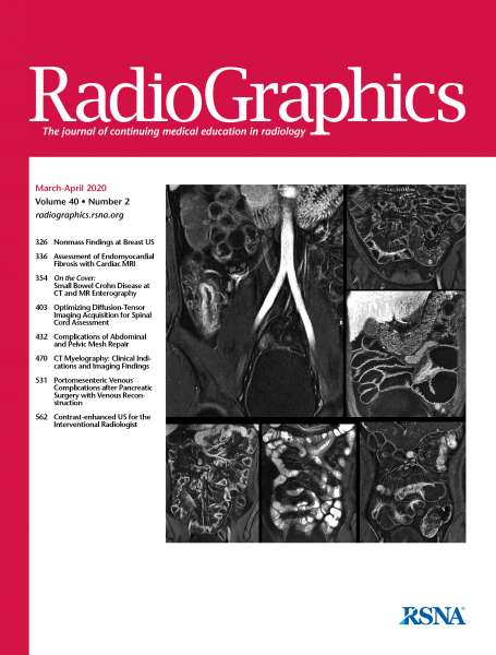 March-April 2020 RadioGraphics Journal cover image