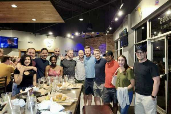 Class of 2021 graduating residents celebrate at World of Beer
