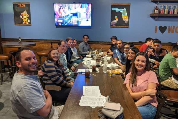 2021 resident welcome happy hour at World of Beer